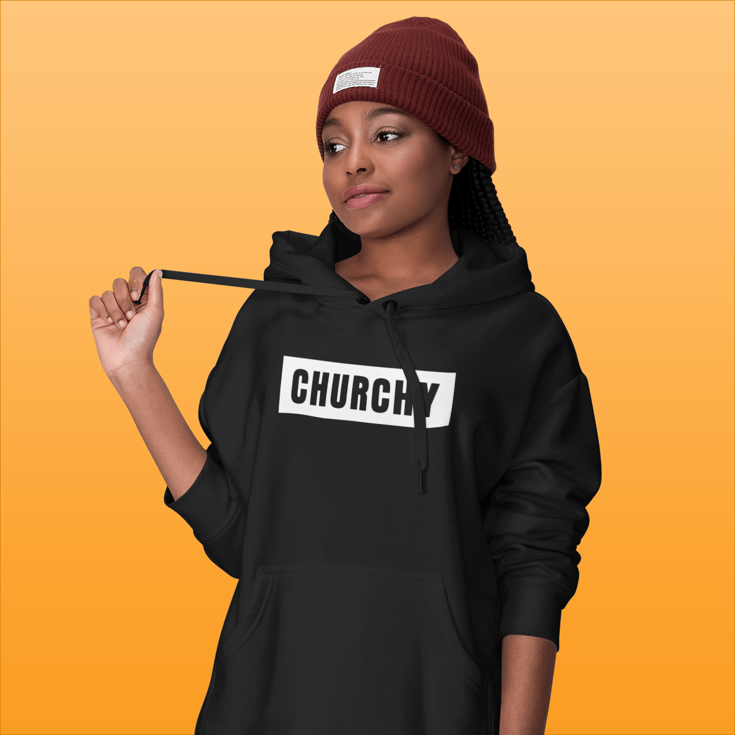 woman-churchy-hooded-sweatshirt